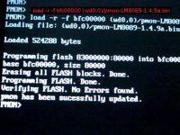 烧写新的pmon, 有风险, 不是吓唬你, 就是吓唬你。pmon.bin 放在ext2/3格式的 /dev/hda1下。